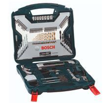Kit de Pontas e Brocas em Titânio X-Line 100 peças Bosch -