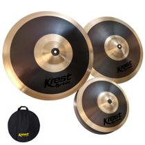Kit De Pratos Krest 14, 16 e 20 Com Bag Orbit Oset1b -