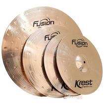 Kit de pratos Krest Fusion 14'' 16'' 20'' + bag -