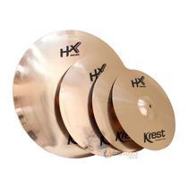 Kit de pratos Krest HX 14'' 16'' 20'' + bag -
