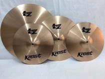 Kit De Pratos Para Bateria Krest Tz 14/16/20 Liga B8 -