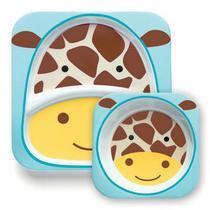 Kit de Pratos Skip Hop Zoo Girafa -
