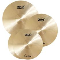 """Kit de Pratos Zeus Custom Set C 14"""" 16"""" 20"""" -"""
