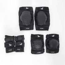 Kit de Proteção Átrio Luva Cotoveleira Joelheira Preto Ideal Para Skate Patins Overboard ES269 - Multilaser