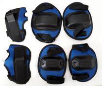 Kit De Proteção Bel Sports Infantil Azul -