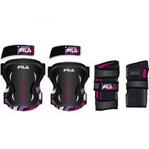 485f49f8a Kit De Proteção Fila Infantil Junior Girl Preto E Pink - XP