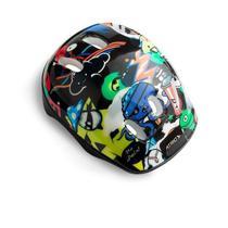 Kit de Proteção Infantil Monster com Capacete Cotoveleiras Joelheiras e Luva Tam. Único Indicado para +3 Anos Atrio - ES200 -