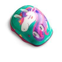 Kit de Proteção Infantil Unicorn com Capacete Cotoveleiras Joelheiras e Luva Tam. Único Indicado para +3 Anos Rosa/Azul Atrio - ES199 -