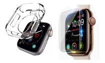 Kit De Proteção Smartwatch Película De Gel + Case 38/40mm - Iwo