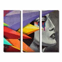 Kit De Quadros Decorativos Arte De Rua Pop Street Art - Kiaga