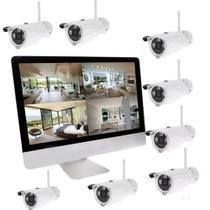 Kit de segurança com 8 cameras jortan -