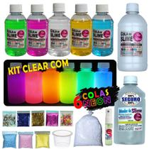 Kit De Slime Premium Isa Slime + 6 colas neon -