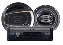 Kit de Som Automotivo B52 EKL 236U MP3 + 2 Falantes de 6