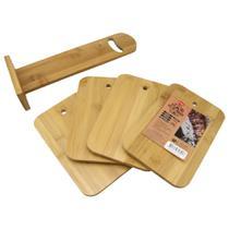 Kit De Tábuas Servir Churrasco Carne Corte Bambu Sustentável - Clink