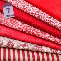 Kit de Tecido Vermelho (30x70) 7 Estampas - Horizonte