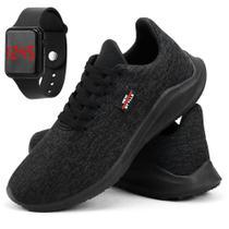 Kit de Tênis Caminhada Casual Masculino com Relógio Digital - New Style