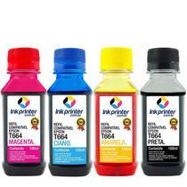 Kit de Tinta Compatível para Impressora Epson L455 InkPrinter ( T664 - 100ml) -
