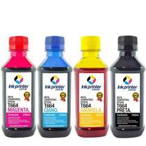 Kit de Tinta Compatível para Impressora Epson L455 InkPrinter ( T664 - 250ml) -