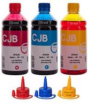 Kit de Tinta Impressora Epson L355 l365 l375 l395 Colors (3x500ml) - Colour jet brasil