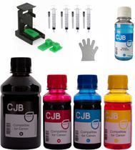 Kit de Tintas CJB Compatível para Recarga Cartucho Canon 44 54 140 141 145 146 210 (650ml) - ColourJet Brasil