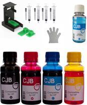Kit de tintas CJB Compatível para Recarregar Cartuchos HP 664 662 21 56 - 5X100ML - Colour Jet Brasil