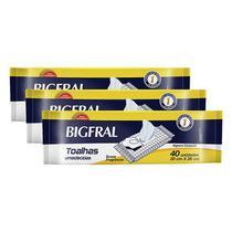 Kit de Toalha Umedecida Bigfral  - 120 unidades -
