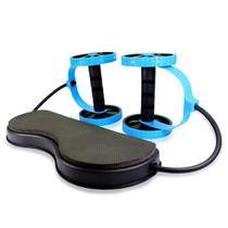 Kit de treino com rodas abdominais - azul - Dmxfit