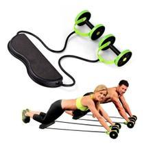Kit de treino com rodas abdominais - verde - Dmxfit