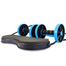 Kit De Treino Com Rodas e Elástico - Acessório De Musculação - Mb Fit