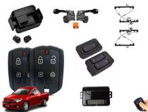 Kit de Vidro Elétrico Montana 2012 a 2016 Alarme Positron EX 360 e Travas Elétricas da Tragial - Ideal