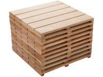 Kit Deck de Madeira de Eucalipto Stain Jatoba  - 50x50cm Massol D554 10 Peças