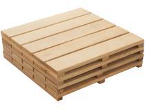 Kit Deck de Madeira de Eucalipto Stain Jatoba  - 50x50cm Massol D554 4 Peças