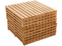 Kit Deck de Madeira de Eucalipto Stain Jatoba  - 50x50cm Massol D954 10 Peças