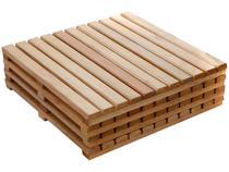 Kit Deck de Madeira de Eucalipto Stain Jatoba  - 50x50cm Massol D954 4 Peças