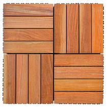 Kit Deck de Madeira Modular Base Plástica Isabela 30cmx30cm com 25 Placas Cumaru - Isabela Revestimentos