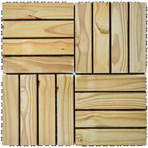 Kit Deck de Madeira Modular Base Plástica Isabela 30cmx30cm com 25 Placas Pinus Tratado - Isabela Revestimentos