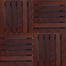 Kit Deck de Madeira Modular Isabela 30cmx30cm com 20 Placas Madeira de Lei Mista - Isabela Revestimentos