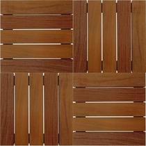 Kit Deck de Madeira Modular Isabela 50cmx50cm com 12 Placas Cumaru - Isabela Revestimentos