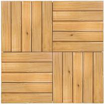 Kit Deck de Madeira Modular Isabela 50cmx50cm com 12 Placas Pinus Tratado - Isabela Revestimentos