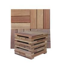 Kit Deck Modular 28cmx28cm com 20 Placas Cumarú Isabela Revestimentos Marrom -