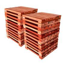 Kit deck modular 30x30cm padrão imbuia 20 placas - mader silva -