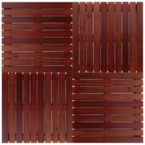 Kit deck modular 50x50cm padrão imbuia 12 placas - mader silva -
