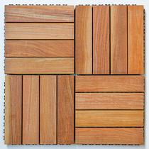 Kit deck prático 30x30cm base plástica cumarú 25 placas - mader silva -