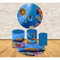 Kit Decoração Mini Table Fundo do Mar Tartaruga - Fabrika de festa