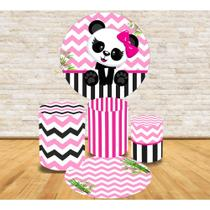 Kit Decoração Mini Table Ursinha Panda - Fabrika de festa