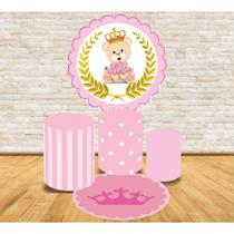 Kit Decoração Mini Table Ursinha Princesa - Fabrika de festa