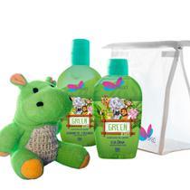 Kit Delikad Kids Safari (Colônia 100 ml + Shampoo Hyppo Green 200 ml) -