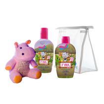 Kit Delikad Kids Safari Pink (Colônia 100 ml + Sabonete Líquido) -
