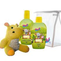 Kit Delikad Kids Safari Yellow (Colônia 100 ml + Shampoo 200 ml) -