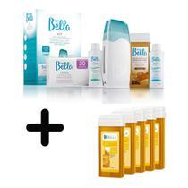 Kit Depilação Sist. Roll-on Bivolt Depil Bellla+5 Cera Refil - Depilbella
